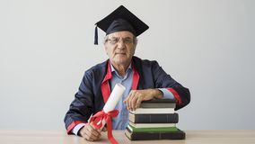 Senior adult man in cap. Senior adult man in the cap stock photo
