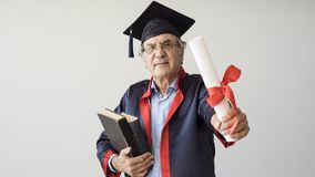 Senior adult man in cap. Senior adult man in the cap stock photos