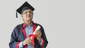 Senior adult man in cap. Senior adult man in the cap stock images