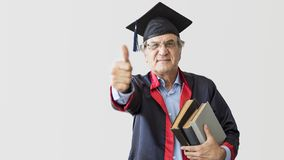 Senior adult man in cap. Senior adult man in the cap royalty free stock photos