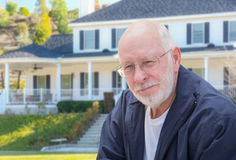 Senior Adult Man in Front of House Stock Photos