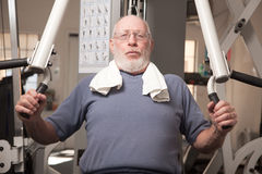 Senior Adult Man in the Gym Stock Photography