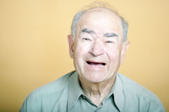 Senior Adult man laughing Royalty Free Stock Photography