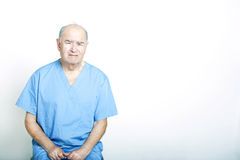 Senior Adult Patient looking very upset Stock Images