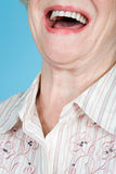 Senior adult woman laughing Stock Images