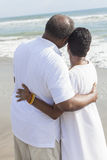 Senior African American Couple on Beach royalty free stock photos