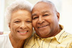 Senior African American couple at home Royalty Free Stock Photography