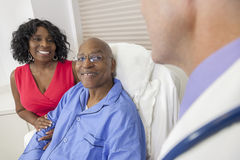 Senior African American Man in Hospital Bed Royalty Free Stock Photo