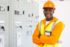 Senior african american technician Royalty Free Stock Photography