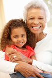 Senior African American woman and granddaughter Royalty Free Stock Image