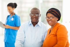 Senior african couple doctors Royalty Free Stock Photos