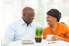 Senior african couple relaxing Stock Photo