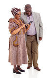 Senior african couple tablet Stock Images