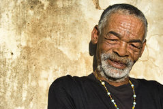 Senior African man. Relaxing in the African sun royalty free stock images
