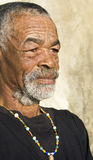 Senior African man. Relaxing in the African sun royalty free stock photos
