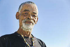 Senior African man. Relaxing in the African sun royalty free stock photography