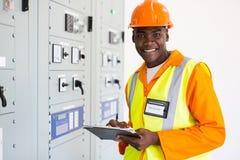 Senior african technician Stock Photos