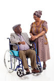 Senior african wife husband Stock Image
