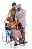 Senior african woman husband granddaughter Royalty Free Stock Photos