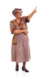 Senior african woman pointing Royalty Free Stock Photo
