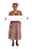 Senior african woman white board Royalty Free Stock Photo