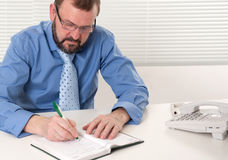 Senior business man working Royalty Free Stock Photo