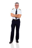 Senior airline captain Royalty Free Stock Photography