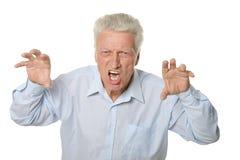 Senior angry man Stock Photography