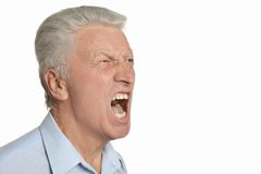 Senior angry man Royalty Free Stock Images