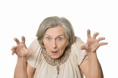 Senior angry woman Stock Photo
