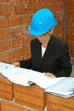 Senior architect woman Stock Photo