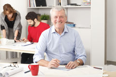 Senior architect working in studio Royalty Free Stock Photos