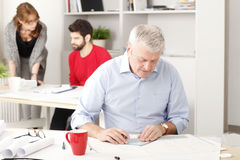 Senior architect working in studio Royalty Free Stock Photography