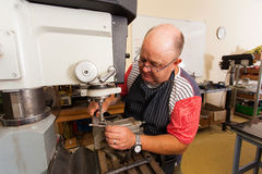 Senior artisan working Royalty Free Stock Photo