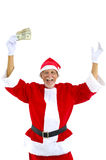 Senior as Santa Royalty Free Stock Images