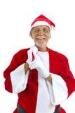 Senior as Santa Royalty Free Stock Photography