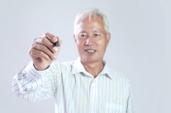 Senior asian business man Royalty Free Stock Photos