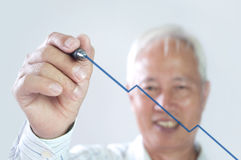 Senior asian business man Stock Images