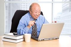 Senior asian businessman Stock Photos