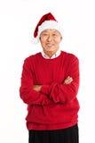 Senior Asian celebrating Christmas Royalty Free Stock Image
