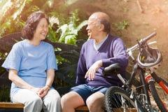 Senior asian couple stock photos