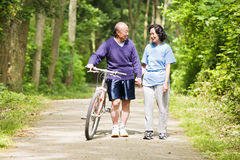 Senior asian couple Royalty Free Stock Images