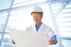 Senior Asian engineer Stock Photos