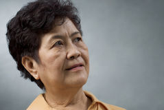 Senior asian lady Royalty Free Stock Images