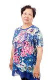 Senior Asian Woman stock image