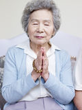 Senior asian woman Stock Image