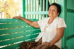 Senior asian woman Relaxing Royalty Free Stock Image
