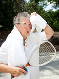 Senior Athlete Cools Off Royalty Free Stock Photos