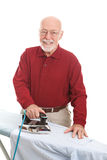 Senior Bachelor Does Ironing Royalty Free Stock Image