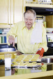 Senior baking Royalty Free Stock Images